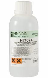 HI-7074M Electrode Cleaning Solution for Inorganic Substances, 230 mL bottle