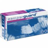 Semperguard Latex Comfort Powder Free Examination Gloves, Non Sterile - Large